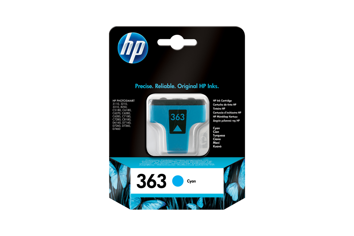 Genuine Ink Cartridge HP HP 363 C8771E Cyan