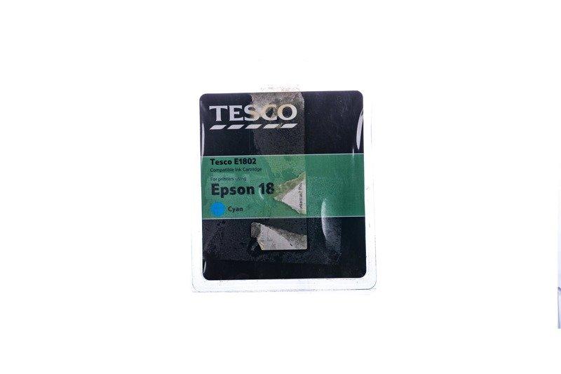 Remanufactured Ink cartridge Tesco Epson 18 Cyan