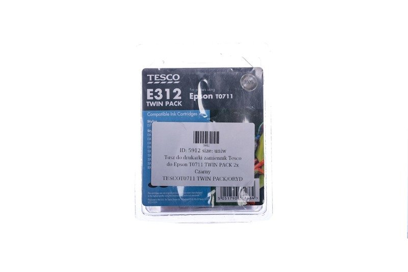 Remanufactured Ink cartridge Tesco Epson T0711 TWIN PACK Double Black